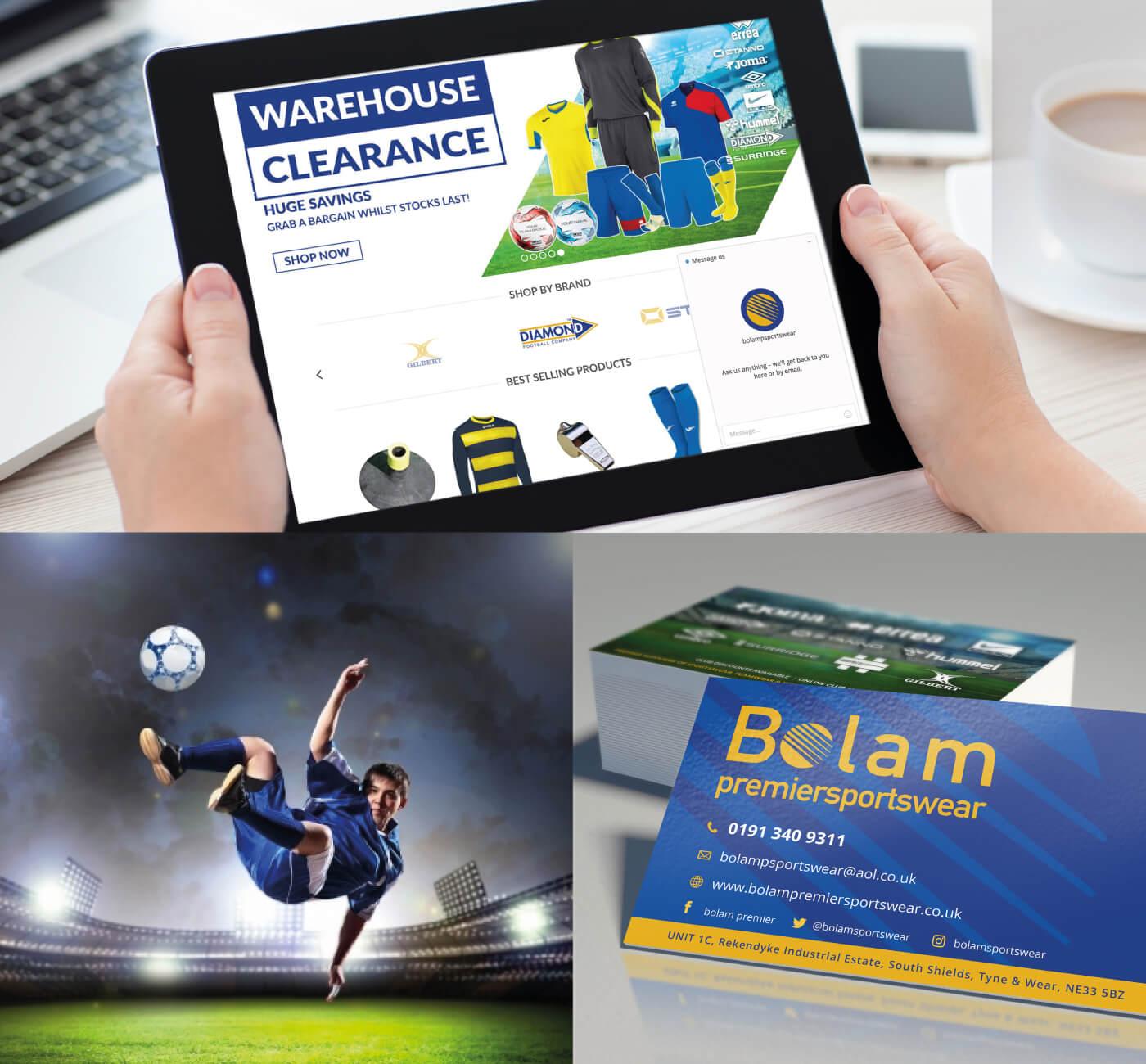 Bolam Premier Sportswear iPad in hand