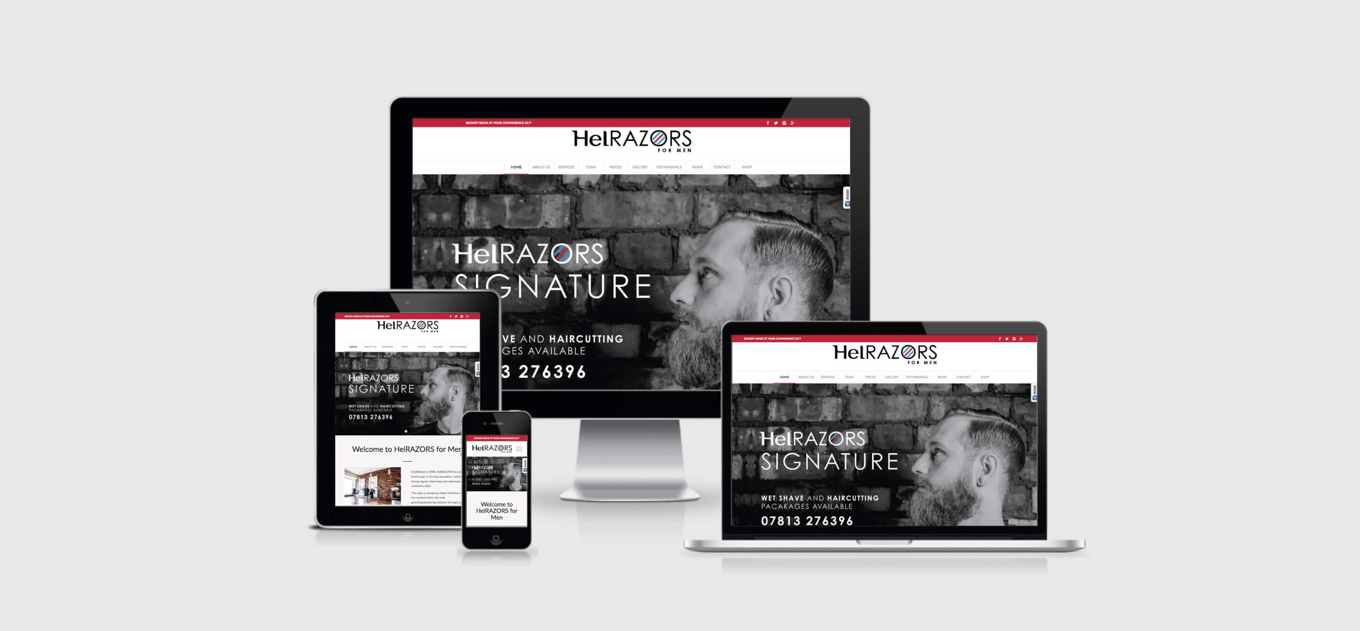 HelRAZORS Web Responsive presentation