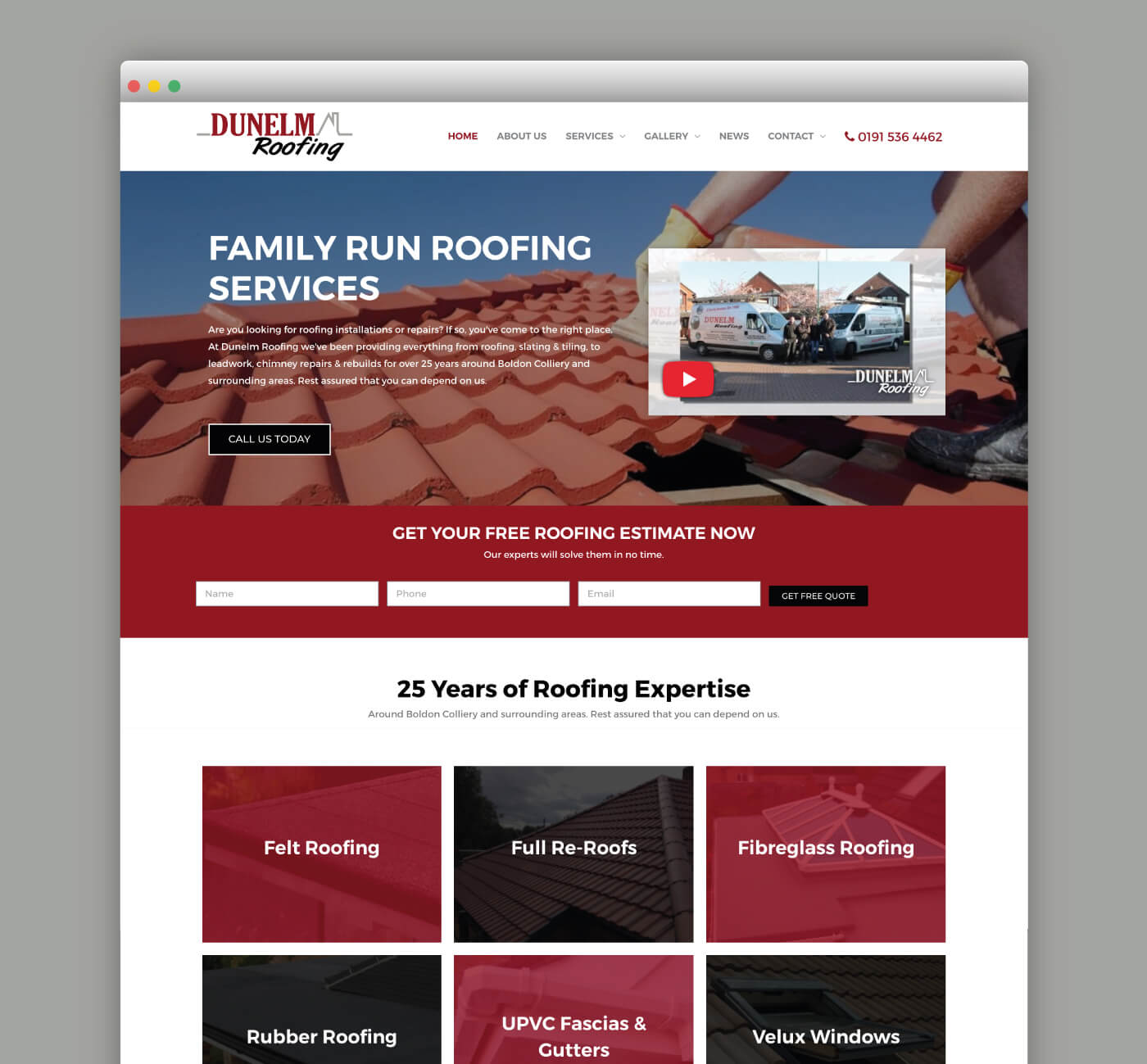 Dunelm Roofing Web Page