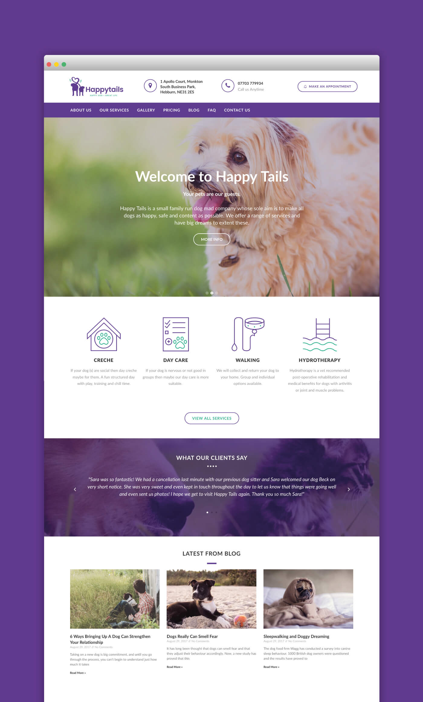 Happy Tails Web Page 1