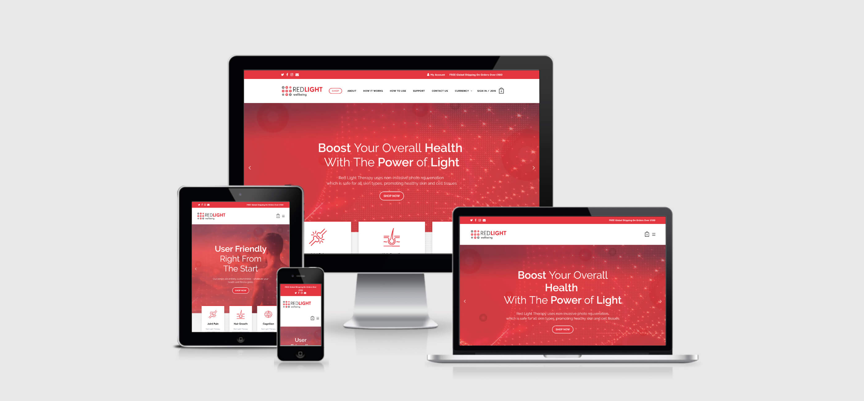 red light wellbeing web views